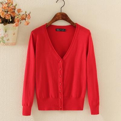 春早秋季针织衫女开衫加大码长袖V领外搭短款韩版披毛衣外套修身