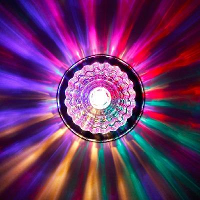 【12厘米超大灯体】七彩水晶射灯LED天花灯过道灯走廊玄关灯筒灯