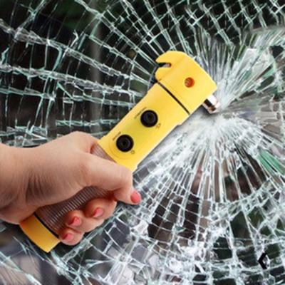 多功能车载安全锤车用逃生锤玻璃破窗器汽车应急救生锤手电筒