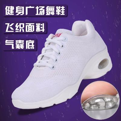 夏透气网面广场舞鞋舞蹈鞋女软底鬼步鞋舒适跳舞鞋子鞋运动健身