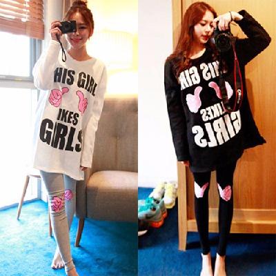 春夏秋冬季长袖睡衣女春夏秋冬季学生韩版可爱睡衣女款家居服套装