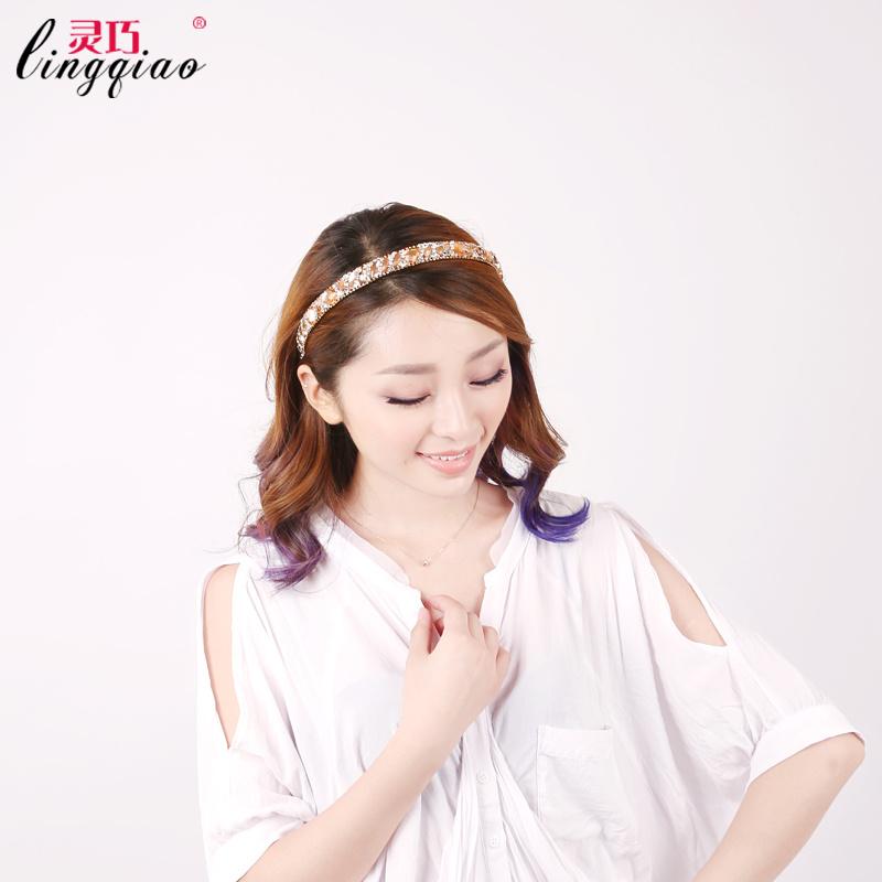 韩版洗脸发箍头饰奥地利水钻头箍带齿防滑成人发卡发带发夹发饰品
