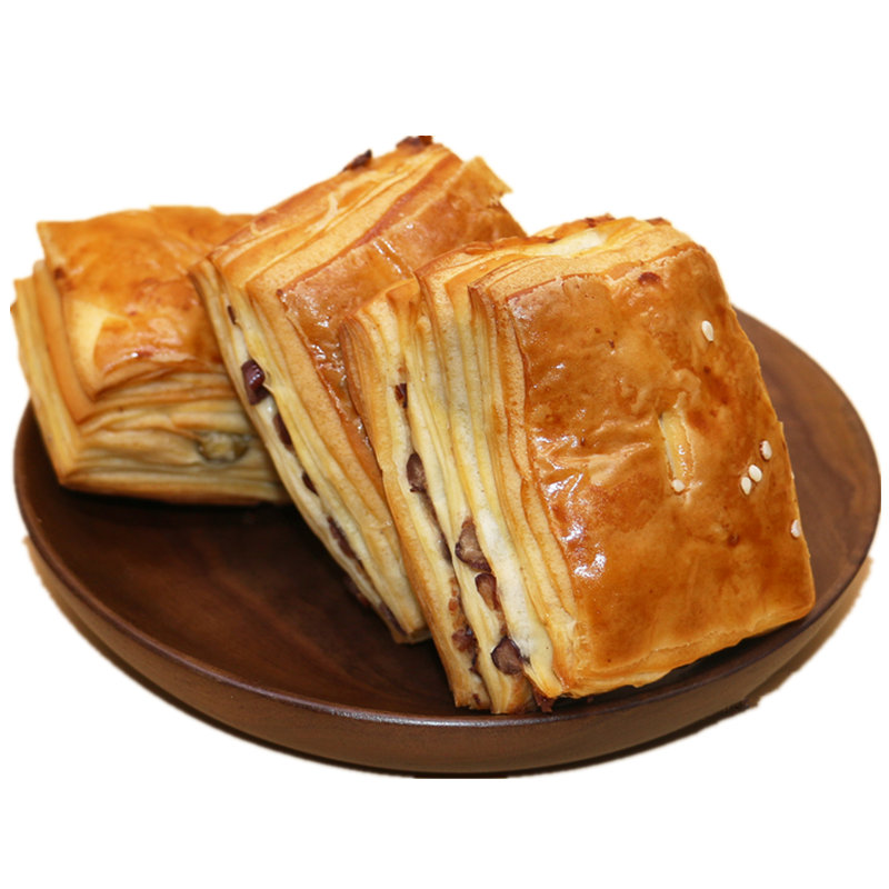 丹麦红豆绿豆夹心手撕面包营养早餐千层蛋糕零食糕点