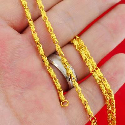 小金鱼镀金项链女士不掉色欧币越南沙金项链防过敏送女友礼物