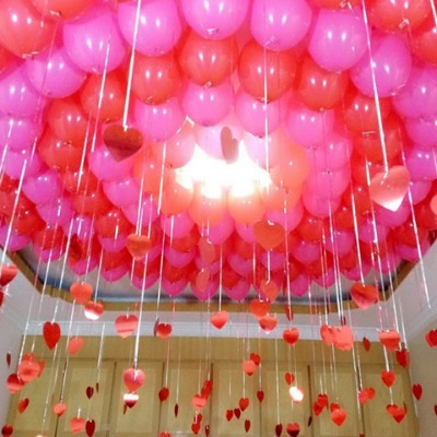婚庆用品婚房布置加厚珠光气球拱门生日派对装饰吊坠气球套装批发