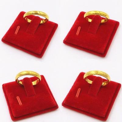 越南沙金开口戒指铜镀金时尚开口对戒 男 女情侣气质指环饰品
