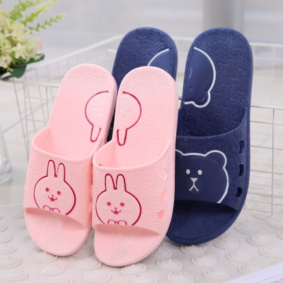 夏季新款可妮兔家居室内浴室洗澡拖鞋男女情侣卡通可爱防滑凉拖鞋