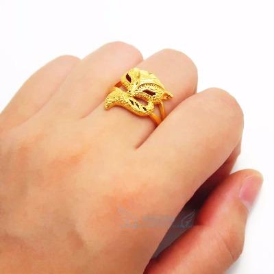 越南沙金个性时尚狐狸戒指女 欧币简约开口久不掉色饰品