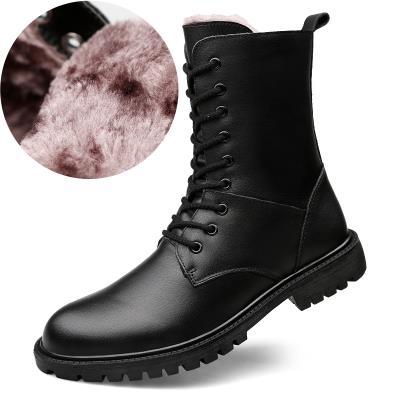 马丁靴男高帮真皮长靴子长筒军靴雪地靴冬季加绒保暖棉靴皮靴马靴