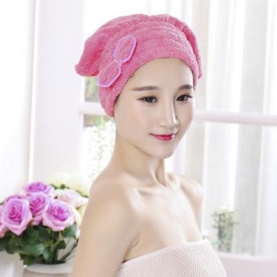 珊瑚绒浴帽干发帽速干帽公主帽超强吸水超细纤维干发毛巾浴帽