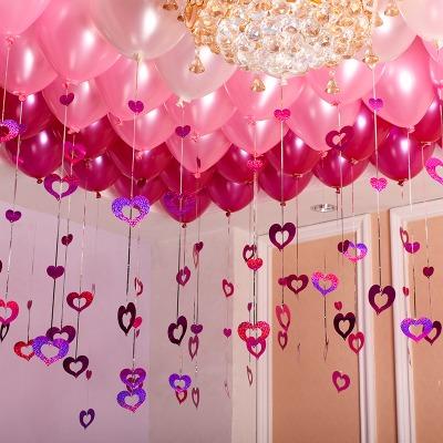 结婚庆用品婚礼布置气球婚房装饰气球加厚生日儿童套装气球批发