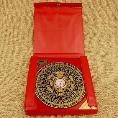 风水罗盘正品纯铜罗盘仪指南针综合盘专业高精度风水盘