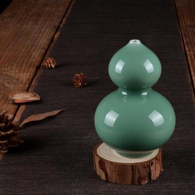 新品龙泉青瓷陶瓷器纯手工制作家居客厅玄关创意装饰品葫芦瓶摆件