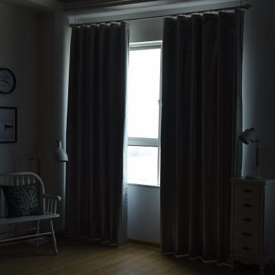 加厚全遮光布落地飘窗卧室阳台客厅小窗帘成品短帘简约现代咔黛娜