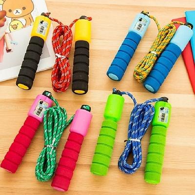 【2条装】专业计数跳绳 运动健身成人儿童海绵柄学生中考专用跳绳【2月29日发完】