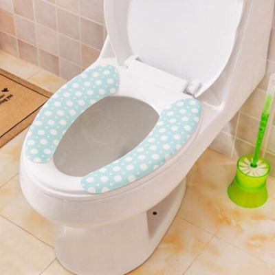 3对防尘绒面坐便垫  清洁防尘防水粘贴式保暖护肤马桶颜色随机发