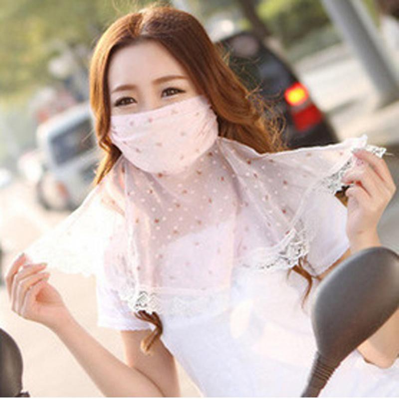 防紫外线碎花护颈口罩 防紫外线防尘口罩  透气防晒口罩花色随机