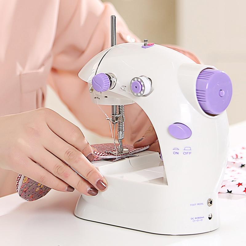 多功能双线电动缝纫机 家用便携电动缝纫机针织机家用电动多功能