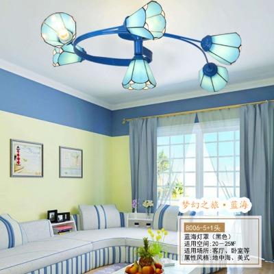 美式创意灯田园卧室灯led吸顶灯铁艺客厅灯房间餐厅书房儿童灯具
