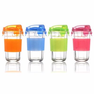 三光云彩glasslock钢化玻璃杯子水杯茶杯加防烫硅胶 RC105/500ml