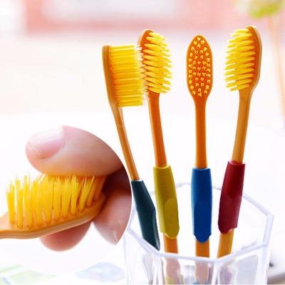 24支装双层软毛牙刷保健牙刷 家庭装四色金头韩版牙刷纳米牙刷