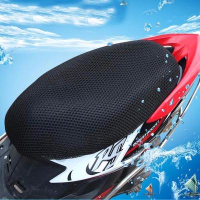 3D蜂窝电动车坐垫套电瓶坐垫踏板座套车摩托车坐防晒可水洗座垫套