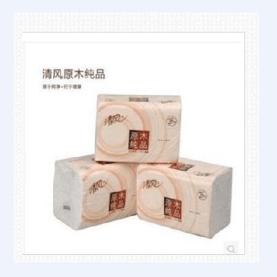 清风原木纯品抽纸2层200抽1提*3连包*2提抽取式面纸
