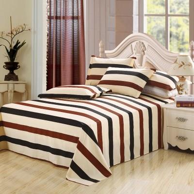【优质床单/被套】全棉纯棉床单单件 裸婚时代床单条纹线条几何床单学生宿舍床单