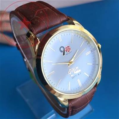 【精品手表】中国建军90周年纪念表 金色八一建军节男士手表 礼物会销礼品国表