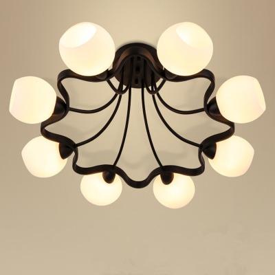欧式吸顶灯美式简约现代大气客厅灯创意梅花灯卧室灯餐厅led灯具