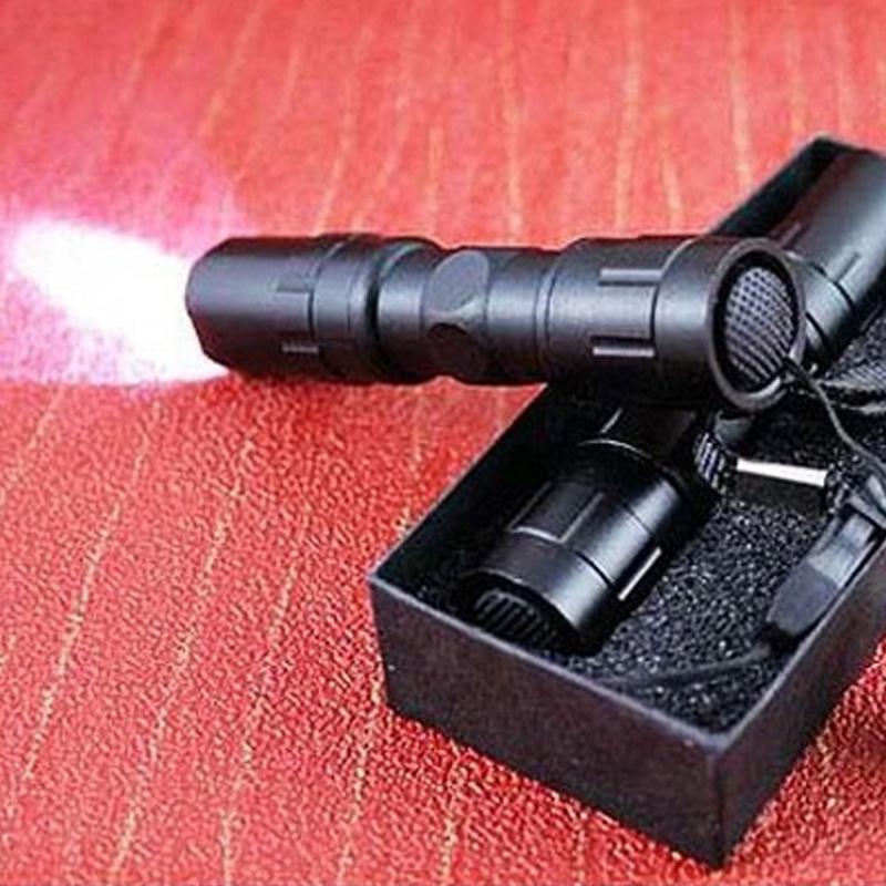 强光手电筒LED远射王迷你变焦手提探照灯家用户外骑行防水小手电