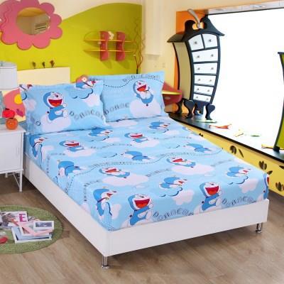 全棉卡通床笠单件纯棉儿童床垫套床罩可定做 哆啦A梦叮当猫机器猫