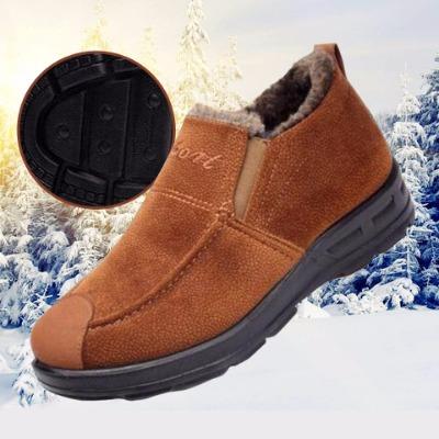 老北京布鞋冬季必备新款男鞋棉鞋防滑雪地鞋户外加厚休闲鞋
