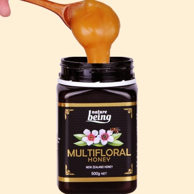 新西兰百花蜂蜜瓶装500g成熟蜂蜜原瓶原装进口正品含有麦卢卡因子