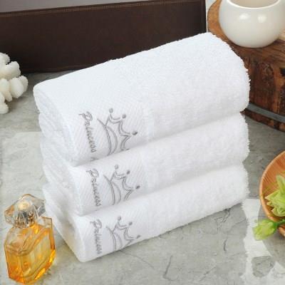 五星级酒店宾馆美容院加厚纯棉白色加大毛巾皮肤管理定制专用枕巾