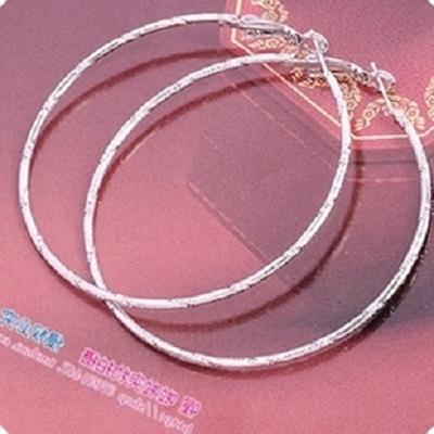 日韩国耳饰银色简约时尚个性大圈圈夸张气质防过敏学生耳坠耳环女