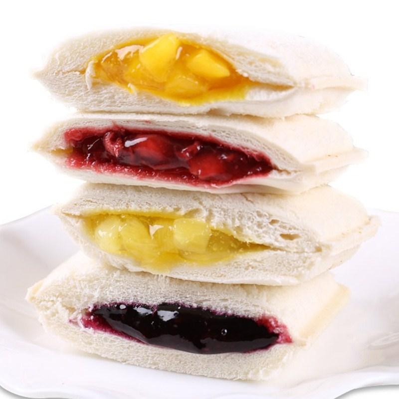 乳酸菌口袋面包500g紫米吐司早餐面包代餐三明治蛋糕零食小吃批发