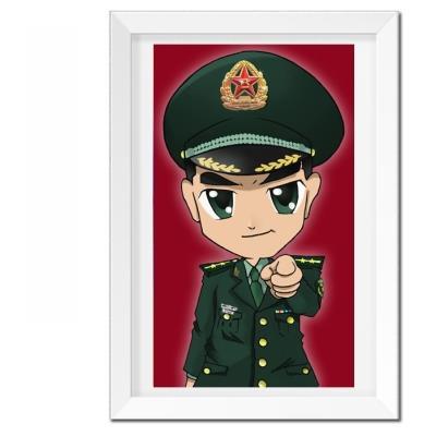 军人兵哥哥十字绣八一礼物革命军旅 海陆空十字绣兵哥哥钻石画