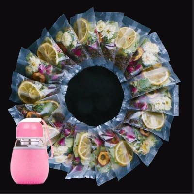 送杯子】柠檬荷叶茶20包修身玫瑰菊花茶组合修肚子山楂茶叶男女