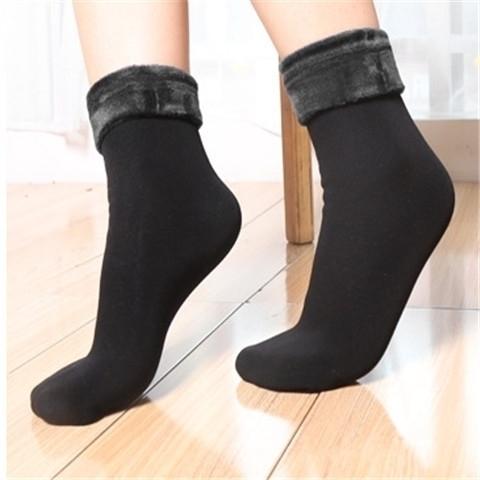 便宜的冬季加厚保暖毛袜子女中筒棉袜新款加厚加绒保暖长筒雪天袜地板袜