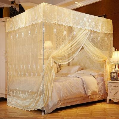 蚊帐单开门宫廷蚊帐加密公主风家用婚庆双人床宿舍1.2床1.5m1.8米