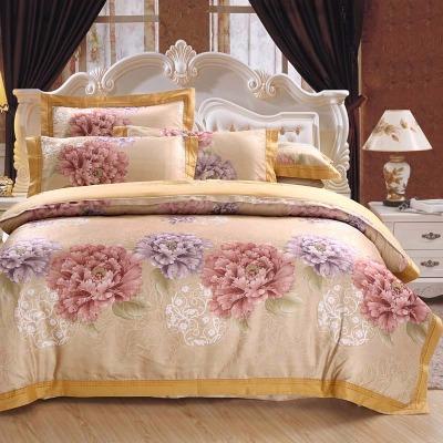 精品心恋水星家纺全棉提花绣花四件套纯棉被套1.8/2.0m米床上用品