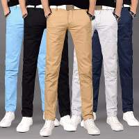 【买一送一】夏季薄款裤子男士休闲裤男修身小脚长裤直筒男装裤子