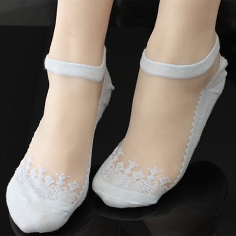 【四季8双装】袜子女短袜水晶玻璃丝袜蕾丝隐形袜船袜女士秋丝袜