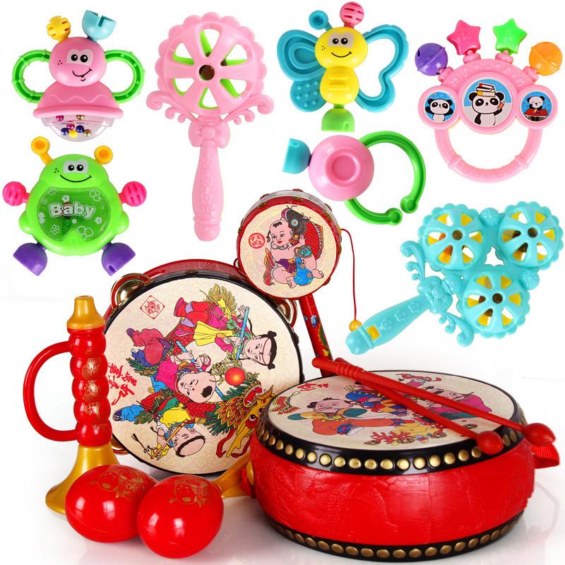 【依妹儿】牙胶摇铃玩具可用开水泡婴儿玩具摇铃0-6-6-12个月