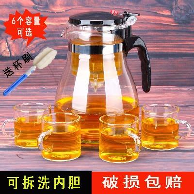 防爆裂耐热玻璃飘逸杯飘逸杯一壶六杯泡茶壶可拆洗过滤内胆冲茶器