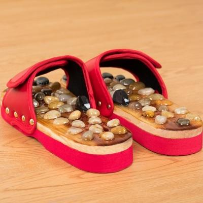 鹅卵石足底按摩拖鞋足疗鞋情侣浴室防滑室内家居家用凉拖鞋男女夏