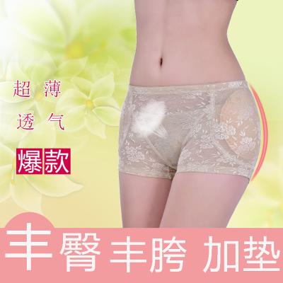 透气丰臀丰胯假屁股内裤女士内裤提臀美臀翘臀裤加垫薄款塑身裤