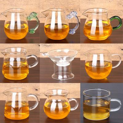 公道杯玻璃加厚高硼硅茶漏茶海耐高温泡茶分离器配件可电陶炉包邮