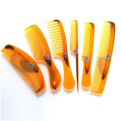 尖尾梳子防静电直发梳牛角梳子塑料折不断长发家用便携大齿梳套装